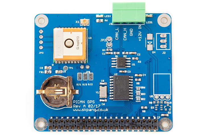 PiCAN with GPS CAN-Bus Board for Raspberry Pi 2/3