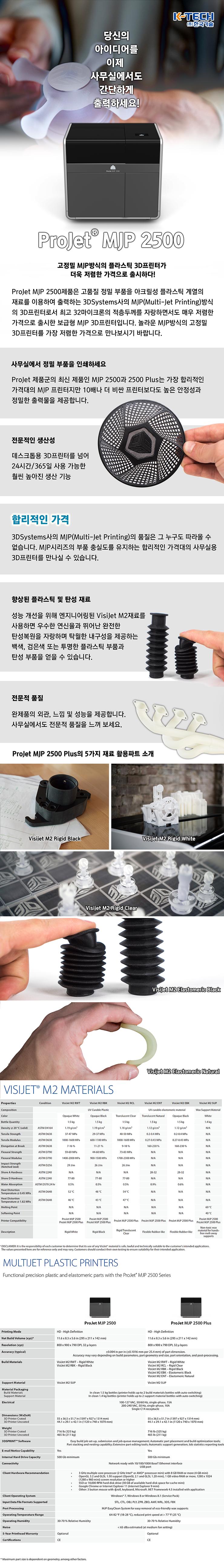 [2016 신제품 출시] 고정밀 MJP방식의 플라스틱 3D프린터 저렴한 가격